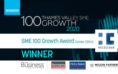 HeleCloud wins the Thames Valley SME 100 Growth Index Award